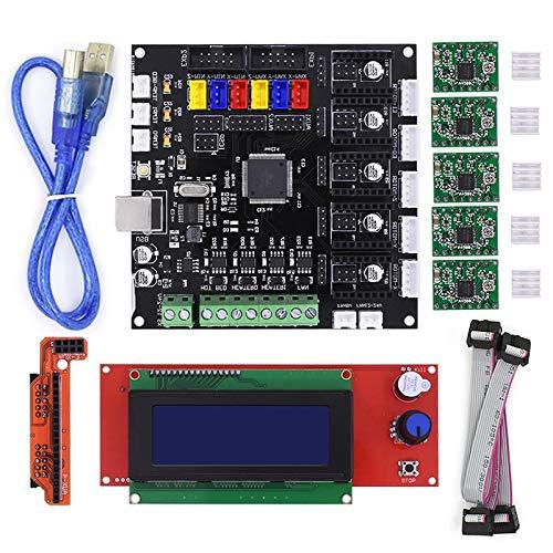 Gimax KFB2.0 control board Motherboard Reprap Controller main board +2004LCD Board For 3D Printer Heatbed