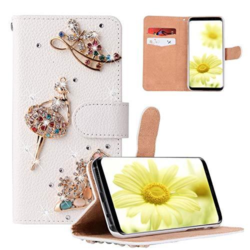 Artfeel Diamond - Funda tipo cartera para Samsung Galaxy A52 (con protector de pantalla), diseño de diamantes de imitación