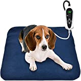 Pet Heating Pad, Electric Heating Pad for Dogs and Cats Indoor Warming Mat with Auto Power Off (M:18' x 18')