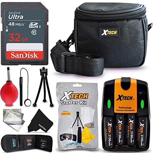 Accessories Kit for Nikon Coolpix B500 L340 L840 L830 L820 L810 L620 L610 L330 L320 L310 L32 L31 L30 L28 L26 L120 L110 Digital Camera Includes, Case, 32GB SD Memory, AA Batteries + Accessory Bundle