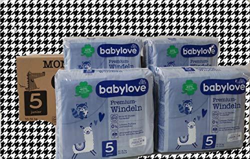 babylove Premium-Windeln junior 5, 10-16kg, 4x36 Stck. Megapack 144 Stück