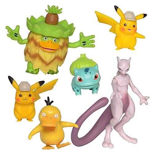 Multi Pack | 6 Action-Figuren im Set | Pokemon | Meisterdetektiv Pikachu