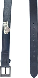 Thick Leather Belt With Hidden Pocket Handmade by Hide & Drink Includes 101 Year Warranty :: Slate Blue