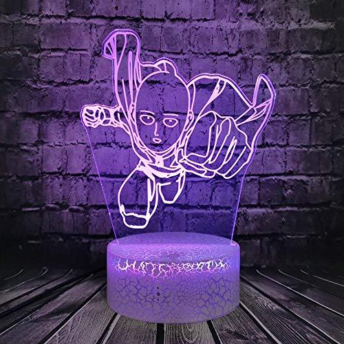 Dominante boxeo dibujos animados animación cómics acrílico multicolor luz nocturna creativa lámpara de mesa pequeña decoración creativa luz nocturna luz LED luz visual 3D