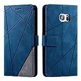 Galaxy S7 Edge Case, SONWO Premium Leather Flip Wallet Case