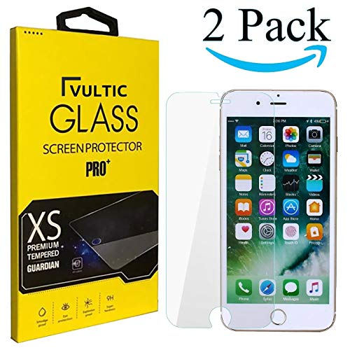 Vultic iPhone 8/7 / 6S / 6 / SE 2020 Screen Protector Tempered Glass [Case Friendly] Film Cover for Apple iPhone 8, iPhone 7, iPhone 6S, iPhone 6 and SE 2nd Generation (4.7 inch) [2 Pack]