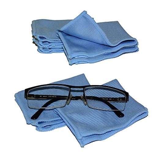 Microfaser Brillenputztuch Microfasertuch Reinigungstuch Set von all-around24® (8-er Set: ca15x20)