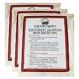 Southwest Jalapeno Beer Bread Mix Packets, Beer Infused Loaf Blend, 15 oz bag (3 pack)