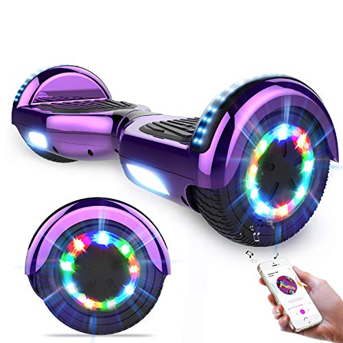 """GeekMe Hoverboards,Self Balancing Scooter 6.5\"""",Elektroroller mit Bluetooth-Lautsprecher, LED-Leuchten, Geschenk für Kinder, Jugendliche"""