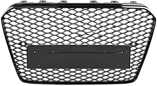 Zaaqio Honeycomb Hood Grill, For RS5 Style Car Front Bumper Sport Hex Mesh Gloss Black For Audi A5 / S5 B 8.5 Facelift 2013 2014 2015 2016