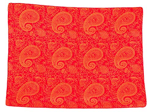 Yogadecke Paisley KUSCHELDECKE 150 x 200 cm Made in Germany, rot/orange