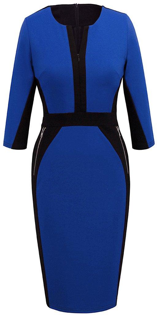 Available at Amazon: HOMEYEE Women's Stretch Tunic Pencil Sheath Dress U837