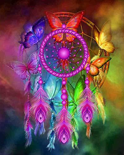 HQHff Mandala Color Mariposa Atrapasueños,Puzzles Adultos 1000 Piezas 75x50cm,3D Puzzles de Madera Adultos Regalo de Juguete Educativo para niños