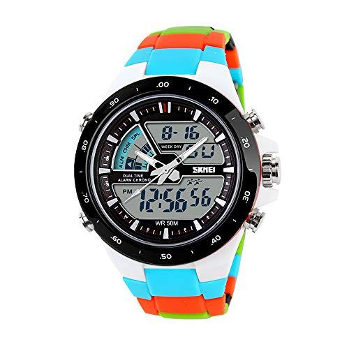 Fintier 人気な カジュアル腕時計 デジタル 学生腕時計 ボーイズ腕時計 子供腕時計 スポーツギア アウトドアウォッチ 第2時間帯表示付き アナログ クォーツウォッチ 防水 多機能 腕時計