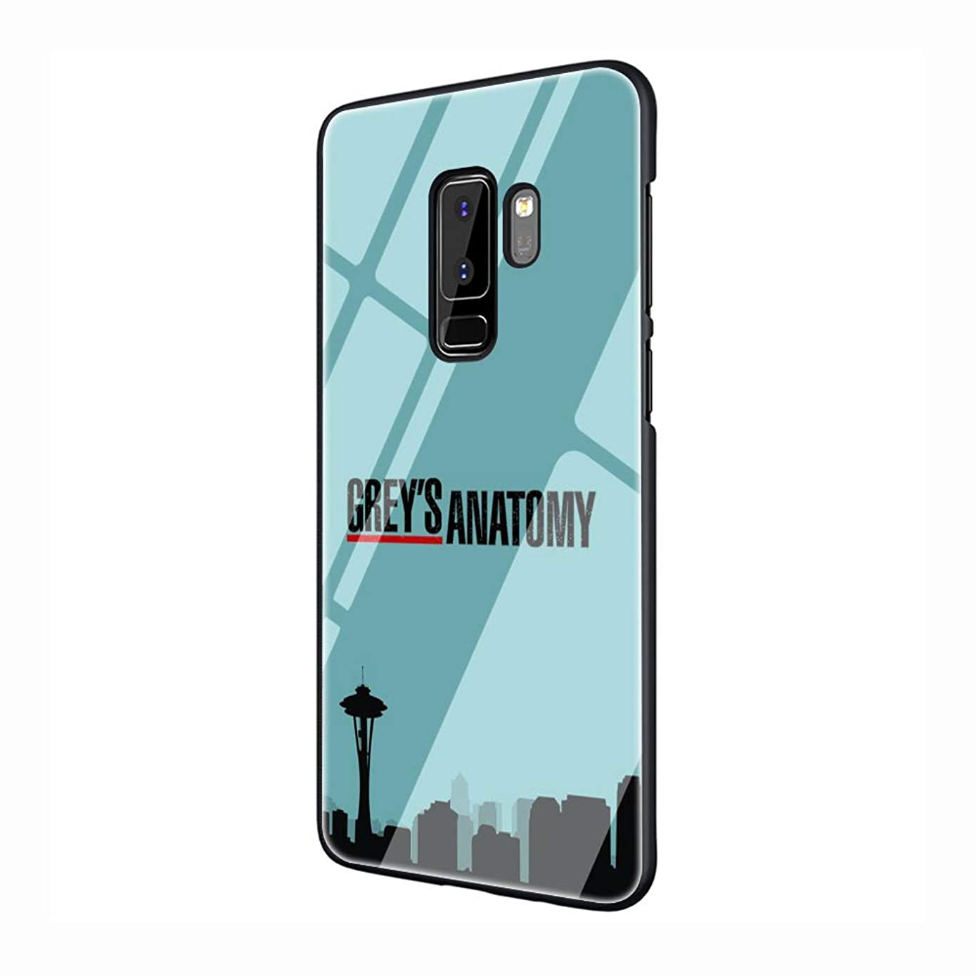 American TV Greys Anatomy Tempered Glass TPU Black Cover Case for Samsung Galaxy S7 Edge S8 S9 Plus S10 Note 8 9 (G10,for Samsung S10)