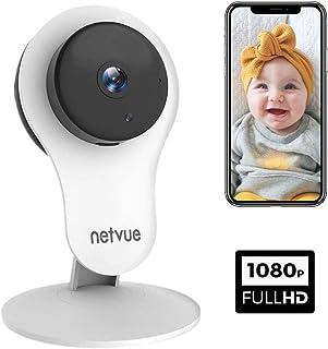 NetVue Camara Vigilancia WiFi Interior 1080P Smart A.I. Detección Humana Compatible con Alexa Echo Muestran Camara WiFi con 2 Vías de visión Nocturna IR Talk 7 X 24h Cloud