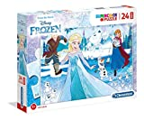 Clementoni – Supercolor Puzzle-Frozen-24 Piezas Maxi Multicolor, 28502