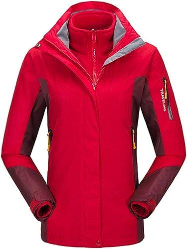 Mkulxina Coupe-Vent pour Femmes en Plein air Mountain Rain Jacket Camping Randonnée Manteaux à Capuchon Coupe-Vent