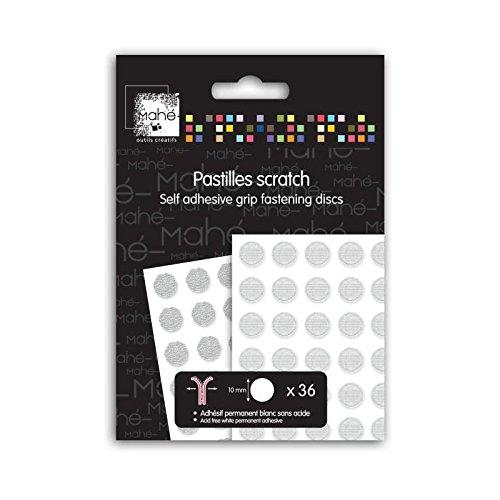 Toga 36 Pastilles Adhésives Scratch, Autre, Blanc, 9 x 13.5 x 6 cm