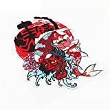 TLZDGX Sticker de Carro Coche Styling Vinyl Decal Ukiyo-e Face Carpa Fish Koi Lotus Fuji Mountain Elemento Motocicleta Casco Pegatina Bicicleta (Size : 18cmx13cm)