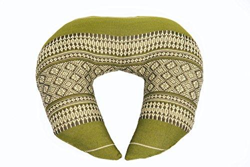 Handelsturm Almohada para el Cuello con Relleno de kapok, diseño Tradicional tailandés, Color Verde bambú