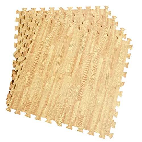 Alfombra de Espuma EVA Alfombrilla de Puzzle de Grano de Madera Esterilla Antideslizante para Niños Suelo Gimnasio 60x60CM (Size : 4pcs-60 * 60 * 1cm)