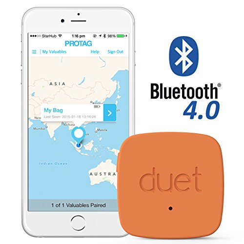 PROTAG Duet Bluetooth Tracker - Retail Packaging - Red