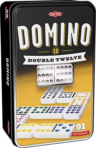 Tactic Domino Double 12 Niños y Adultos Juego Juego de Tablero (Juego,...