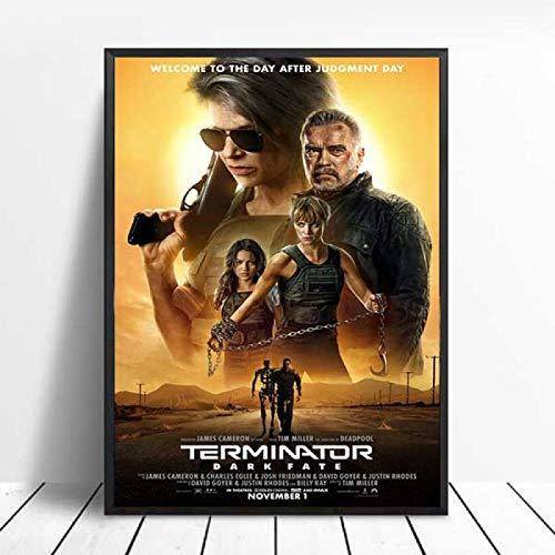 JMHomeDecor Terminator Dark Fate Classic Movie Series Arnold Wall Art Canvas Painting Poster Cuadros De Pared para Sala De Estar 40X50Cm Zgl-765
