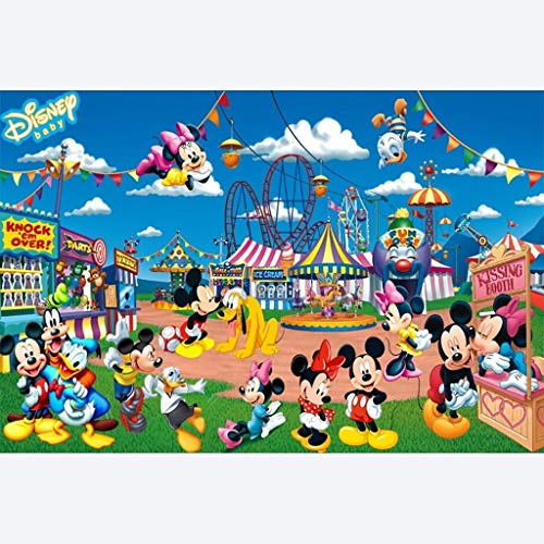 Smklcm Creatieve en interessante houten 1500P puzzel, volwassen Decompression Game Cartoon Anime Donald Duck Mickey Mouse geeft giften (Color : B, Size : 1000P)