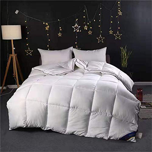 Legend Cotton Duvet, 95% White Goose Down Winter Quilt, Thick Quilt Core, Breathable and Warm, Soft and Comfortable, Hypoallergenic, Suitable for All Seasons (white, Gray) (180×220cm2.5 kg,White)