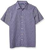 Photo de Perry Ellis Short Sleeve Chk Spc Dye Shirt Chemise, Herbe de Lavande, S Homme