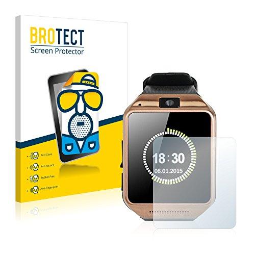 BROTECT 2X Entspiegelungs-Schutzfolie kompatibel mit Gearmax Smartwatch DZ09 Displayschutz-Folie Matt, Anti-Reflex, Anti-Fingerprint
