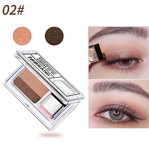 1PC Lazy Eyeshadow Langlebig Wasserdicht Zweifarbiger Lidschatten-Glitzer Einfaches schnelles Make-up Lidschatten-Set mit Pinsel
