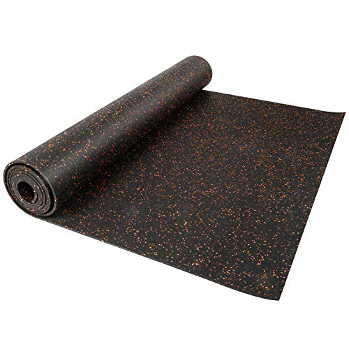 Happybuy Red 3.6 x 15.3 Ft Dot 8mm Heavy Duty Rolls 10% EPDM Vulcanized Rubber Flooring Equipment Mats for Gym or Home