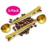 Best Coffee Scoops - Coffee Scoop Clip - 2 PACK - GOLD Review
