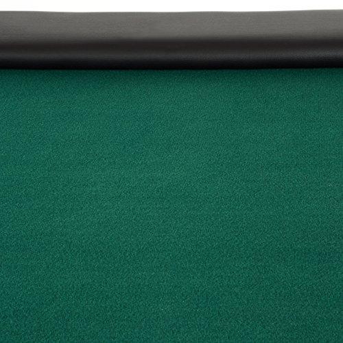 Nexos Pokertisch massiv Casinotisch aus Holz für Poker mit grünem Filzbezug Armlehnen eingelassener Chiptray für 10 Spieler - 3