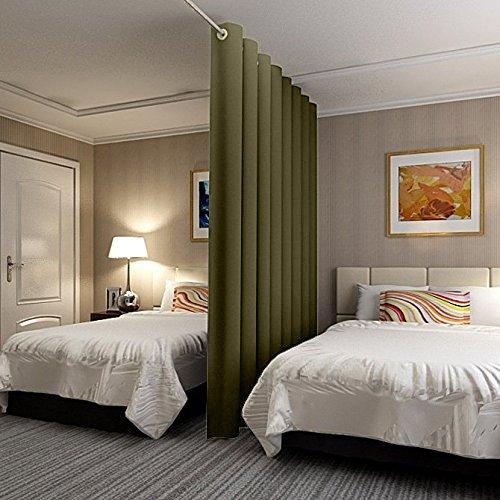 ChadMade Antike Bronze Halterungsöse Paneel Wandschirm Raumteiler Vorhang in Pink 457B x 274H, für Schlafzimmer Apartment Aufbewahrung...
