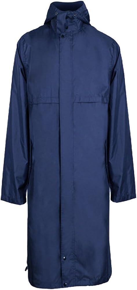 QZUnique Men's Fashion Outdoor Waterproof Packable Zipper Rain Jacket Poncho Raincoat with Hood