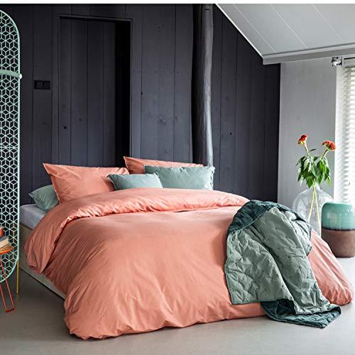 Walra Bettwäsche Renforcé Soft Structure grün aus 100% Baumwolle Uni