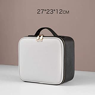 Professional Makeup Organizer Cosmetic Case Cosmetic Bag PU Large Capacity Storage Case Multilayer Suitcase,small
