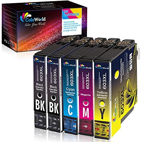ColoWorld 603XL Cartuchos de tinta Repuesto para Epson 603 XL 603XL Multipack Compatibles con Epson Expression Home XP-2100 2105 3100 3105 4100 4105 WorkForce WF-2810 2830 2835 2850 Impresora