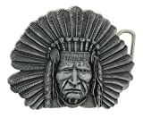 Native American Indian Chief Belt Buckle