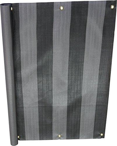 Angerer Balkonbespannung PE-Gewebe Nr. 3800, Grau, 75 cm hoch, Länge: 6 Meter