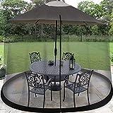 Sonnenschirm Moskitonetz Schirm Ampelschirm Mückennetz Fliegennetz für Gartenschirm Regenschirm Pavillon Gartenpavillon Fliegenschutz