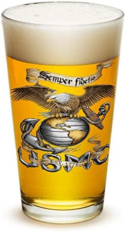 Pint Glasses US Marine Corps Gifts for Men or Women Eagle USMC Marine Corps Beer Glassware Beer product image
