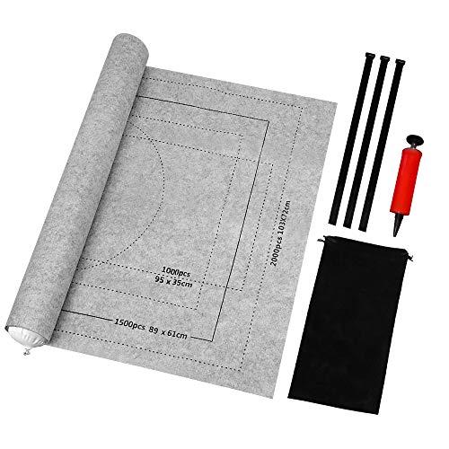 BangShou Tapete para Puzzle Roll Fieltro Puzzles Tapete Puzzle Mat Felt Mat para 1000/1500/2000 Piezas Puzzles