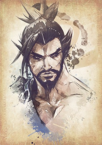 General ART Poster Overwatch Wanted Hanzo - Formato A3 (42x30 cm)