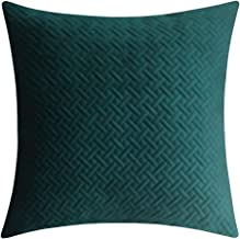 Artcest Decorative Velvet Bed Throw Pillow Case, Sofa Soft Quilted Pattern, Comfortable Couch Cushion Cover, 20