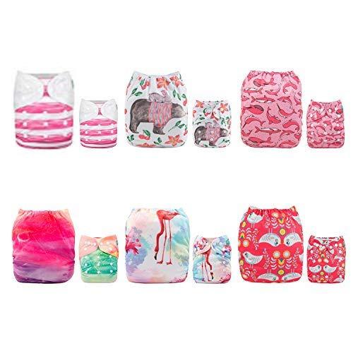 12/inserts/ ALVA Baby Lot de 6/couches lavables et r/éutilisables nouveaux motifs